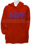Alpha Sigma Upsilon Greek Letter Pullover Hoodie Sweatshirt, Red
