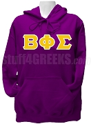 Beta Phi Sigma Greek Letter Pullover Hoodie Sweatshirt, Purple