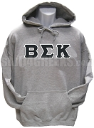 Beta Sigma Kappa Greek Letter Pullover Hoodie Sweatshirt, Gray