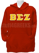 Beta Sigma Zeta Greek Letter Pullover Hoodie Sweatshirt, Red