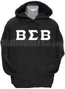 Buffalo Soldier Greek Letter Pullover Hoodie Sweatshirt, Black