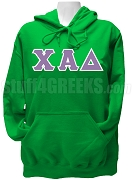 Chi Alpha Delta Greek Letter Pullover Hoodie Sweatshirt, Kelly Green