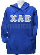 Chi Alpha Epsilon Greek Letter Pullover Hoodie Sweatshirt, Royal Blue