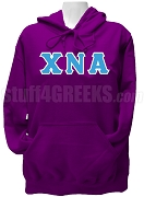 Chi Nu Alpha Greek Letter Pullover Hoodie Sweatshirt, Purple