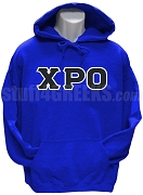 Chi Rho Omicron Greek Letter Pullover Hoodie Sweatshirt, Royal Blue