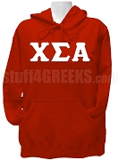 Chi Sigma Alpha Greek Letter Pullover Hoodie Sweatshirt, Red