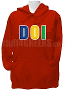 Daughters Of Isis Letter Pullover Hoodie Sweatshirt, Red