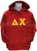 Delta Chi Greek Letter Pullover Hoodie Sweatshirt, Red