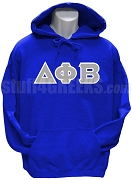 Delta Phi Beta Greek Letter Pullover Hoodie Sweatshirt, Royal Blue
