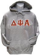 Delta Psi Alpha Greek Letter Pullover Hoodie Sweatshirt, Gray