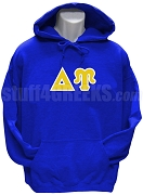 Delta Upsilon Greek Letter Pullover Hoodie Sweatshirt, Royal Blue
