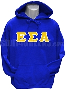 Epsilon Sigma Alpha Greek Letter Pullover Hoodie Sweatshirt, Royal Blue