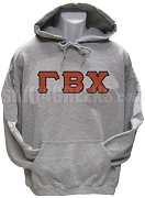 Gamma Beta Chi Greek Letter Pullover Hoodie Sweatshirt, Gray