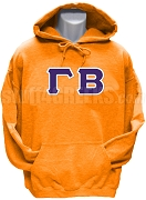 Gamma Beta Greek Letter Pullover Hoodie Sweatshirt, Orange