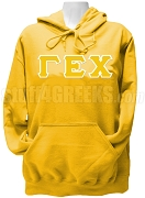 Gamma Epsilon Chi Greek Letter Pullover Hoodie Sweatshirt, Yellow Gold
