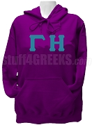 Gamma Eta Greek Letter Pullover Hoodie Sweatshirt, Purple