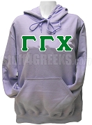 Gamma Gamma Chi Greek Letter Pullover Hoodie Sweatshirt, Lavender SOLD OUT