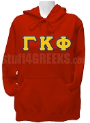 Gamma Kappa Phi Ladies Greek Letter Pullover Hoodie Sweatshirt, Red