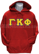 Gamma Kappa Phi Men's Greek Letter Pullover Hoodie Sweatshirt, Red