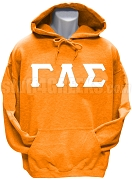 Gamma Lambda Sigma Greek Letter Pullover Hoodie Sweatshirt, Orange