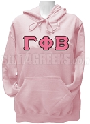 Gamma Phi Beta Greek Letter Pullover Hoodie Sweatshirt, Light Pink
