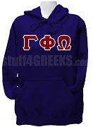 Gamma Phi Omega Sorority Greek Letter Pullover Hoodie Sweatshirt, Navy Blue