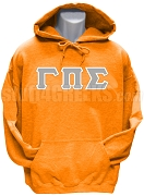 Gamma Pi Sigma Greek Letter Pullover Hoodie Sweatshirt, Orange