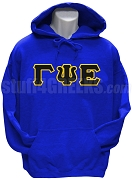 Gamma Psi Epsilon Greek Letter Pullover Hoodie Sweatshirt, Royal Blue