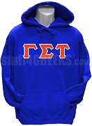 Gamma Sigma Tau Greek Letter Pullover Hoodie Sweatshirt, Royal Blue