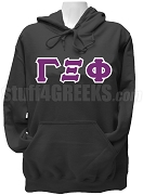 Gamma Xi Phi Ladies Greek Letter Pullover Hoodie Sweatshirt, Black