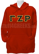 Gamma Zeta Rho Greek Letter Pullover Hoodie Sweatshirt, Red