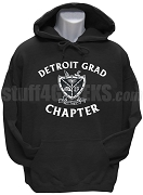 Groove Phi Groove Pullover Hoodie Sweatshirt with Detroit Grad Chapter Crest, Black