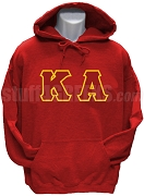 Kappa Alpha Order Pullover Hoodie Sweatshirt with Letters, Red