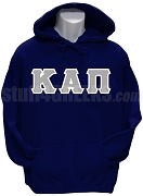 Kappa Alpha Pi Men's Greek Letter Pullover Hoodie Sweatshirt, Navy Blue