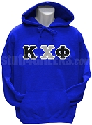 Kappa Chi Phi Greek Letter Pullover Hoodie Sweatshirt, Royal Blue