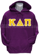 Kappa Delta Pi Men's Greek Letter Pullover Hoodie Sweatshirt, Purple