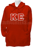 Kappa Epsilon Greek Letter Pullover Hoodie Sweatshirt, Red