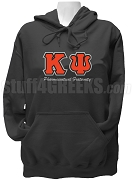 Kappa Psi Greek Letter Pullover Hoodie Sweatshirt with Organization Name, Black