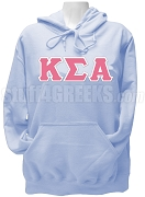 Kappa Sigma Alpha Greek Letter Pullover Hoodie Sweatshirt, Light Blue