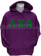 Lambda Chi Alpha Greek Letter Pullover Hoodie Sweatshirt, Purple