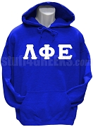 Lambda Phi Epsilon Greek Letter Pullover Hoodie Sweatshirt, Royal Blue