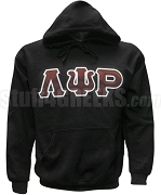 Lambda Psi Rho Greek Letter Pullover Hoodie Sweatshirt, Black