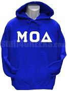 Mu Omicron Delta Greek Letter Pullover Hoodie Sweatshirt, Royal Blue