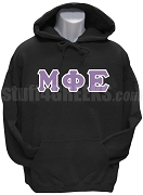 Mu Phi Epsilon Greek Letter Men's Pullover Hoodie Sweatshirt, Black