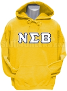Nu Sigma Beta Greek Letter Pullover Hoodie Sweatshirt, Gold
