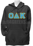 Omicron Delta Kappa Ladies Greek Letter Pullover Hoodie Sweatshirt, Black