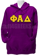 Phi Alpha Delta Ladies Greek Letter Pullover Hoodie Sweatshirt, Purple