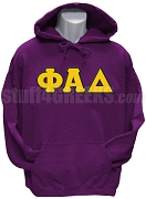 Phi Alpha Delta Men's Greek Letter Pullover Hoodie Sweatshirt, Purple