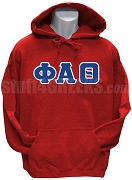 Phi Alpha Theta Men's Greek Letter Pullover Hoodie Sweatshirt, Red