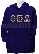Phi Beta Lambda Ladies Greek Letter Pullover Hoodie Sweatshirt, Navy Blue